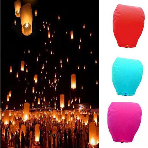 Chinois lanternes de papier Flying Sky Flottant Souhaitant lampe pour fête de mariage nouveau