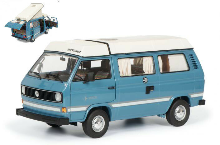 Volkswagen VW t3a Joker 1979 Light azul 1 18 Model 0387 Schuco