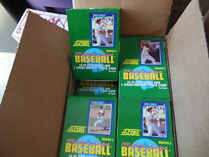 Details About 1991 Score Baseball Cards Unopened Box 36 Packs Series1 Factory Sealed From Case