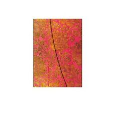 Paperblanks 'Midi' Golden Fuchsia Wrap Notebook, Lined Notebook. Stationery