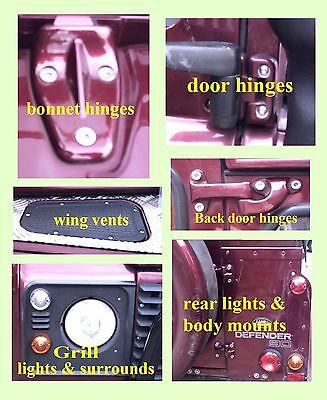 Fittings+J Nuts Kit Landrover Defender 90,110 A2 Stainless Steel 5 Door Bolt