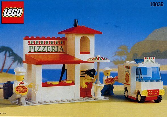Lego Town CLASSIC TOWN 10036   6350 PIZZA TO GO  NEW Sealed