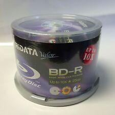 50 Ridata Valor Up to 10x 25GB BD-R White Inkjet HUB Printable Blu-Ray Disc