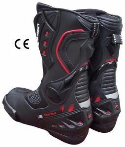 Bottes-De-Moto-Professionne-CE-Level-2-italienne-Marque-40-41-42-43-44-45