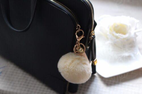Porte clé pendentif poches noir pompon pompon coton rayonne Gland Ange