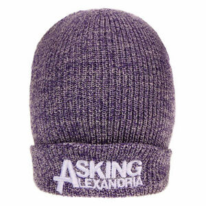 Asking Alexandria Beanie Hat Zuccotto Logo Official Merchandise