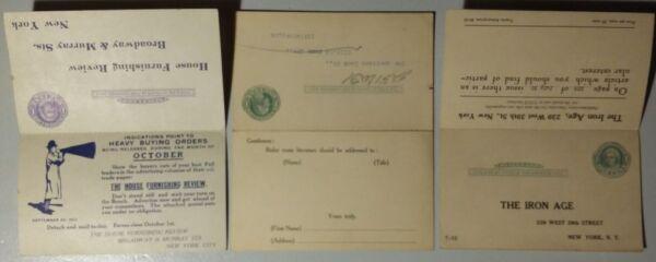 Ambitieux 3 X Ganzsache étranger United States Cartes Postales Postcards New York 1912 - 1914 Haute RéSilience