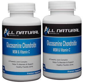 Glucosamina-Condroitina-MSM-E-Vitamina-C-360-Compresse-da-tutte-le-forniture-naturale