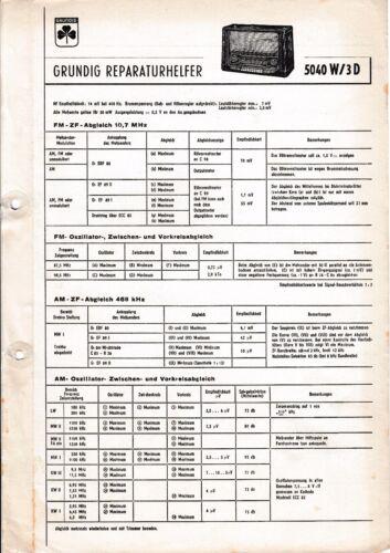 Service Manual-Anleitung für Grundig 5040 W//3D
