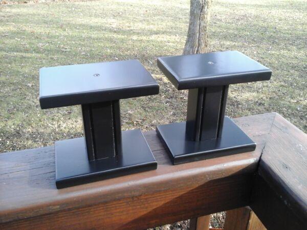 (2) Small Speaker Stands Black ,,, 100% Garantie