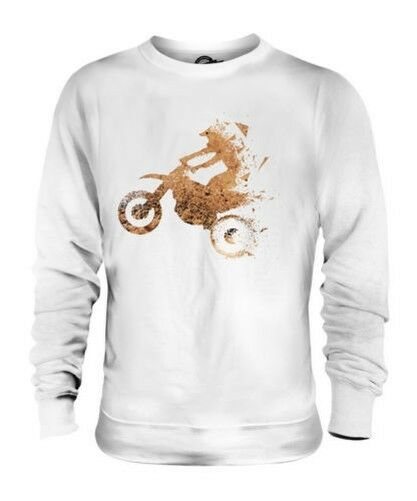 MOTORCROSS TRIANGULAR SPLATTER UNISEX SWEATER TOP EXTREME SPORTS GEOMETRIC