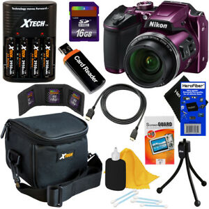 Nikon-COOLPIX-B500-16MP-Wi-Fi-Digital-Camera-Plum-Batts-amp-Charger-16GB-Kit