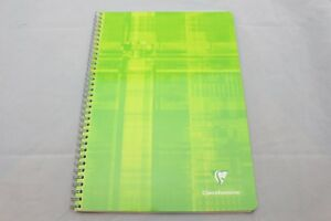 Clairefontaine-Classic-Wirebound-Notebook-8-25-034-X-11-34-034-Graph-Green