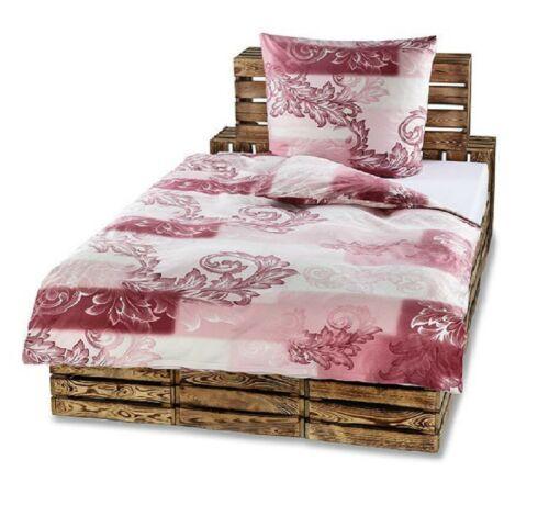 4tlg Winter Bettwäsche Flausch Fleece Bettbezug 135x200 80x80 Schlafzimmer Rosa