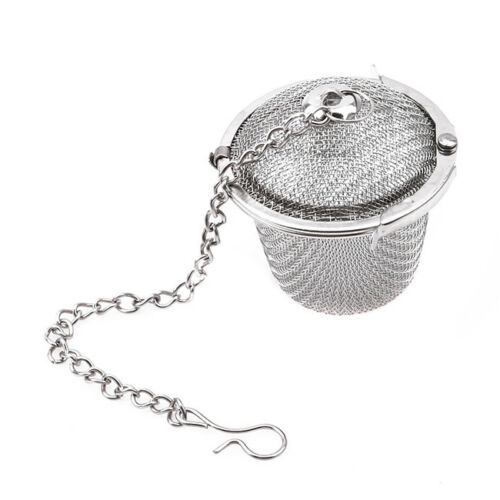 Stainless Steel Tea Brew Ball Strainer Diameter Mesh Infuser Filter Lock DB