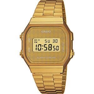 CASIO-A168WG-9B-A168WG-9BWEF-ORIGINAL-ENVIO-CERTIFICADO-RETRO-DORADO-ROMBOS-GOLD