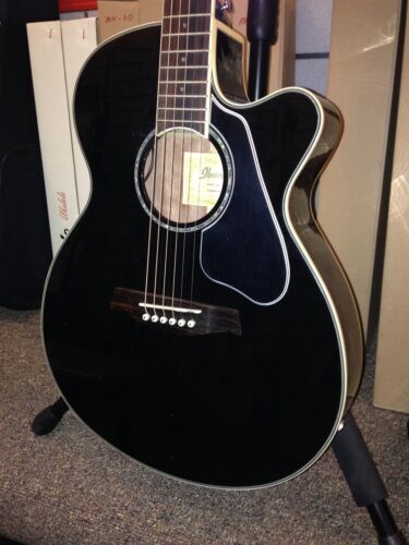"""AEG10ii Pickguard LEFT HAND 1-ply .028/"""" Black for Acoustic Ibanez Guitar Project"""