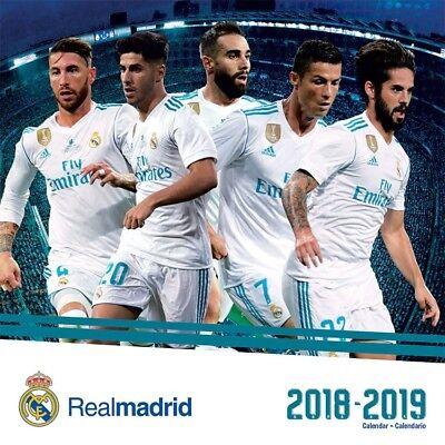 Calendario Ebau 2020 Madrid.Real Madrid 2019 Wall Calendar Brand New Soccer Football 895051 Ebay
