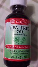 TEA TREE OIL DE LA CRUZ 2 FL OZ  100 % PURE ESSENTIAL OIL FAST SHIPPING HOT SALE
