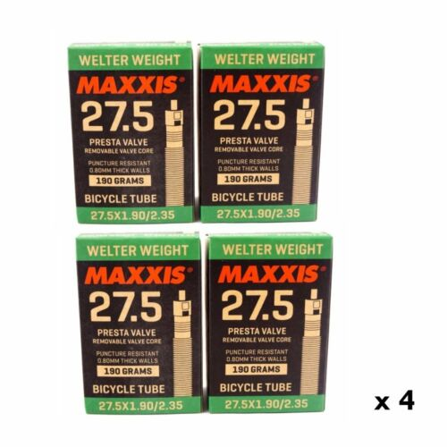 Maxxis Welter Weight 27.5 x 1.90-2.35 Presta Inner Tube 0.8mm thick 1 to 6 tubes