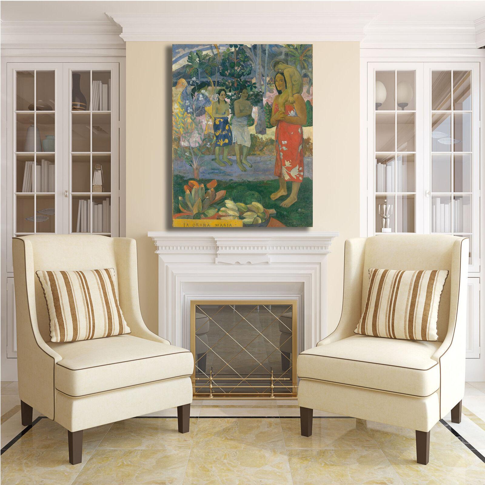 Gauguin ave orana maria design quadro stampa tela o dipinto telaio arRouge o tela casa c5cf35