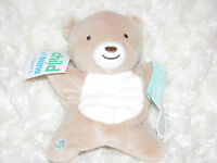 Child Of Mine Minky Bump Dot Teddy Bear Pacifier Holder Stuffed Animal Toy Baby