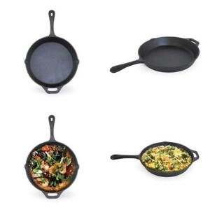 Cast-Iron-Skillet-12-034-Lodge-Durable-Pre-Seasoned-Cooking-Pan-Kitchen-Cookware
