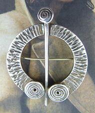 Sterling 925 Sterling Silver Irish Penannular Brooch Pin Vintage Hallmarked