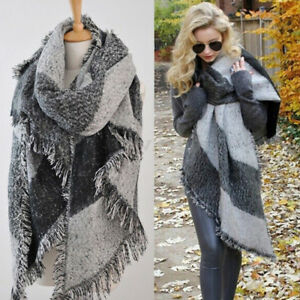b8202a125f7 Hot Winter Women s Thick Warm Wool Pashmina Cashmere Stole Scarves ...