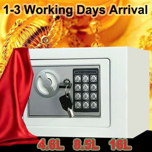 HIGH SECURITY SECURE STEEL LOCK SAFE KEY HOME OFFICE MONEY CASH SAFETY BOX