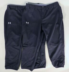 2-Pair-UNDER-ARMOUR-Womens-Medium-30-034-x-21-5-034-Softball-Baseball-Capri-Pants