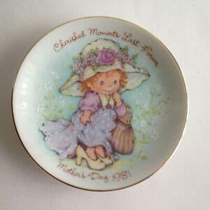 CHERISHED-MOMENTS-Vintage-1981-Mother-039-s-Day-5-034-Trinket-Plate