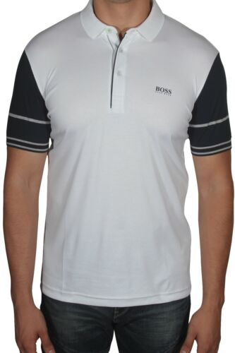 Hugo BOSS Paule 6 Men/'s Polo Shirt Short Sleeve Slim Fit 50388206 100 White