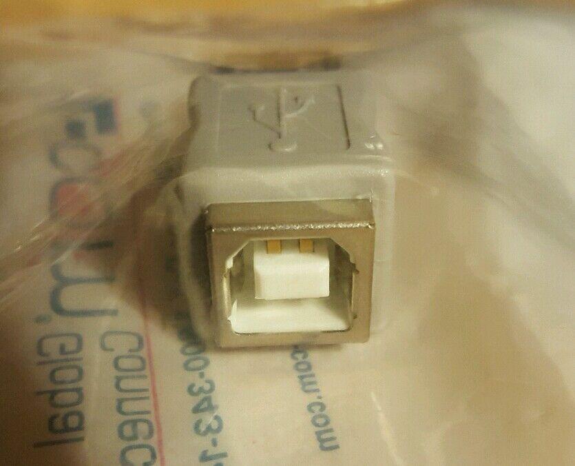 1pc L-COM UAD013FF USB Adapter Type B Female Type A Female