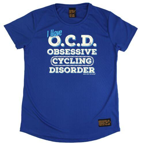 Trastorno Obsesivo ciclismo Transpirables Deportes Toc Cuello Redondo T-shirt regalo presente