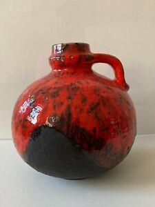 CARSTENS-Toennieshof-Atelier-Gerda-Heuckeroth-Vase-rot-Fat-Lava-C-236-20-WGP