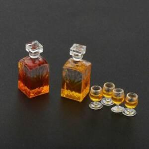 1-12-Scale-Dollhouse-Miniature-Accessories-Whiskey-Wine-Bottle-Bar-Model