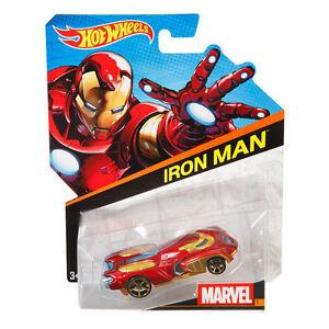 Hot-Wheels-Marvel-Personaje-Cars-1-64-Escala-De-Fundicion-Vehiculo-hombre-de-hierro-BDM74