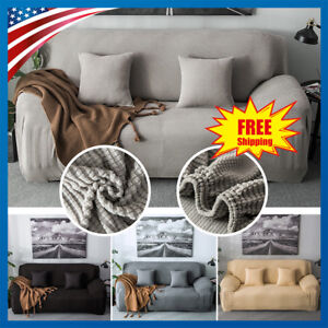 Swell Details About Stretch Chair Sofa Covers 1 2 3 Seater Protector Velvet Couch Cover Slipcover Home Interior And Landscaping Ponolsignezvosmurscom