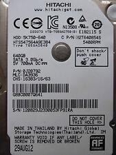 640 GB Hitachi HTS547564A9E384 / 0J20792 / DA3936 / AUG 12 / 0J14315  DA4727 *