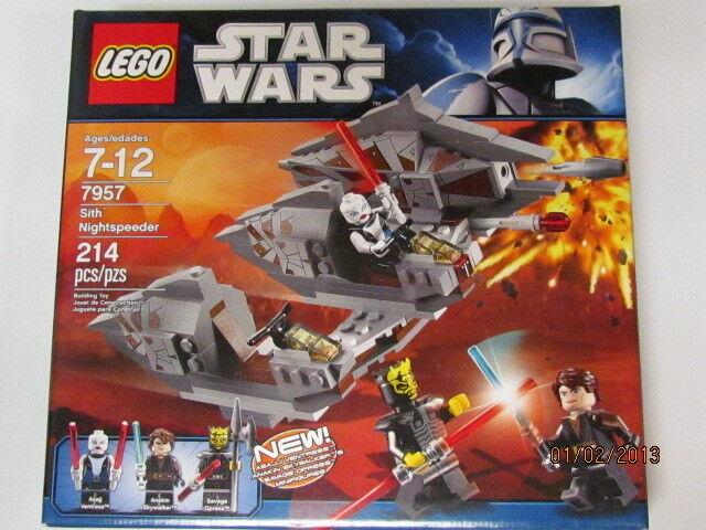 LEGO 7957 7957 7957 Star Wars Sith Nightspeeders  Ship WORLDWIDE  Sealed  RETIRED  NIB 88fe8f