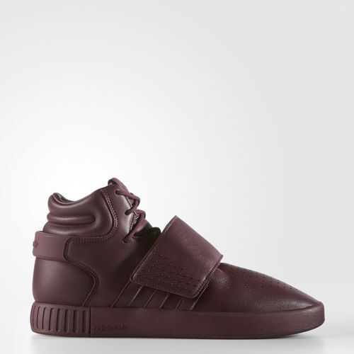 b71dc4773814 adidas Tubular Invader Strap Mens Bw0873 Maroon Burgundy Leather Shoes Size  10.5 for sale online