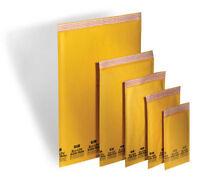 100 Kraft Bubble Mailers Padded Envelopes 30 1, 30 2, 20 4, & 20 5 Combo Pak