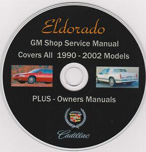 cadillac eldorado 1990 2002 original gm shop repair manual plus rh ebay com 1997 cadillac eldorado service manual 1993 cadillac eldorado service manual