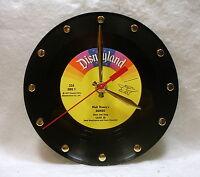 Recycled Walt Disney's dumbo 45rpm Record Handmade 7 Record Desk Clock
