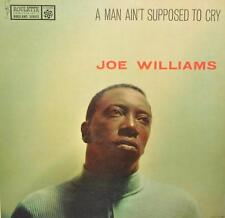 """PROMO JAZZ LP JOE WILLIAMS """" A MAN AIN'T SUPPOSED TO CRY"""" ROULETTE RECORDS"""