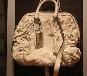 79d6c960aeeb Image is loading Vintage-Dolce-Gabbana-Large-Miss-Rouche-White-leather-