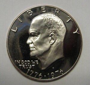 Beautiful-1976-S-Proof-Silver-Eisenhower-Ike-Dollar-Flashy-Gem-DUTCH