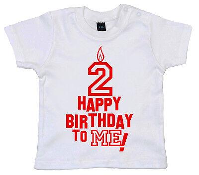 """Bébé, Puériculture Hearty Birthday T-shirt 5.1cmhappy Anniversaire To Me """" 2nd Deuxième Deux Ans Vieux"""