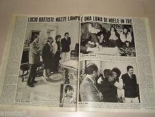 LUCIO BATTISTI nozze lampo clipping ritaglio articolo foto photo 1976